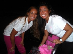"Kimberly Edwards &Samantha Kaszab @ the 2010 ""Living Pink Through Fashion"" Event"
