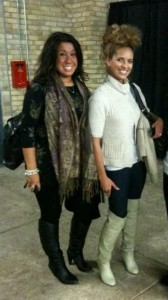 Samantha Kaszab & Kimberly Edwards backstage after Baby Steinberg Runway Show @ 2010 LG Fashion Week by L'Oreal